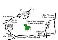 Taal View Heights Nature Villas Batangas Vacant Lot Sale